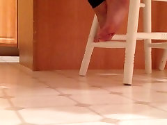 Spying on my wifes feet.