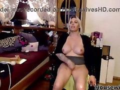 Paraplegic goddess Janelle with tasty enormous tits