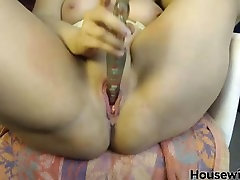 big titted blonde Jane with meaty german flash bulge lips masturbates