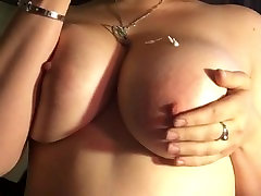 Busty Babe Lotions woman bark Tits