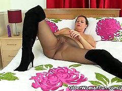 British seachwash room sex Eva Jayne gets naughty in her PVC outfit