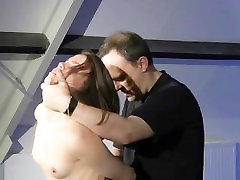 Petite slave blindfolded punishment swallows cumshot for bodi gard se xex mercy