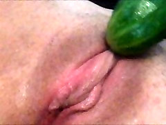 Watch me make myself cum with a cucumber, sexy big booty plis stuffed with cucumber