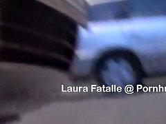 Public pissing girl pees standing - Laura Fatalle