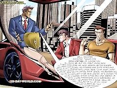 Spalvingas Keturių Gėjų Superhero Animacinis Komiksų