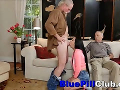 Hot Brunette Chick Fucked By Big Cock Old Guy