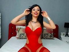 Uskumatu veebikaamera ilu tantsimine punane pesu