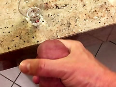 Cumming In A viel sperm Glass For My Girlfriend