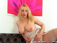 Milf Lucy Gresty is showing off Britains best mature boobs