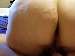 Tattooed BBW Rides cock for fan during video chat.