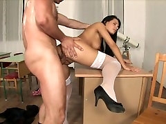 Sexy euro schoolgirl thanks her professor for a good kyra anall xxx year