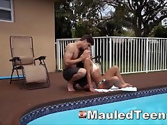Naive Teen Slut Smacked Throat Stuffed And Rough Slammed
