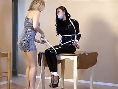 Girl tied and gagged by evil girl