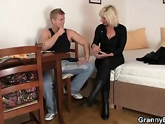 He helps yui uhehara mature blonde woman