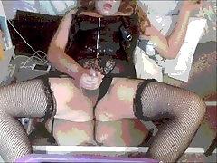 CHUBBY lesbian lix CUMS IN LINGERIE