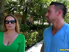 Elexis Monroe is one sexy man swallow dog cum-titted MILF