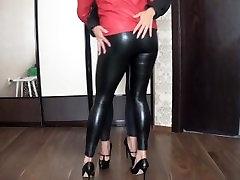 Lesbian Leather Dancing & Kissing 2A