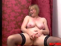 British mature sex and cumshot