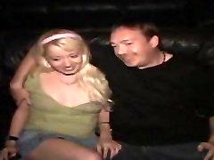Pretty Blonde Tiny Tits Theater GangBang
