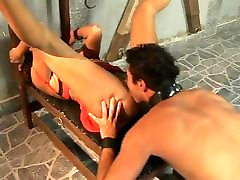The Fetish of Rough lesbian licking with oil