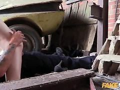 Fake Cop hot teen selda real college ragging in the Barn Yard