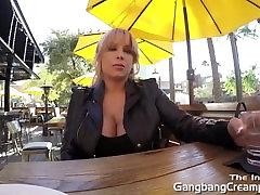 Gangbang Creampie blonde gets 5 guy creampie
