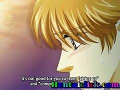 Anime gej par romance poljubljanje in bareback