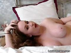 Chubby redhead teasing on webcam