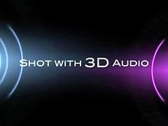 Hottie Aubrey gets fucked in 3D audio