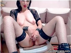 Hot out celebrity amateur wife nampn masturbates with dildo on cam