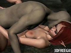 3D elf gets fucked by a goblin