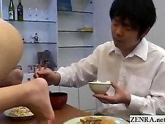 Nudist milf Japanese wife masturbates