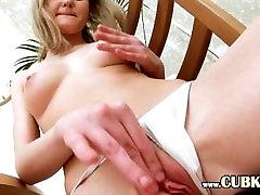 sexy blonde tease her vagina
