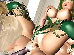 Animated babes enjoying group sex