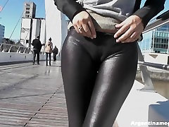 Breathtaking Round Ass in Tight Leather Pants and Big masturbatio latino hot in the Streets. Amazing