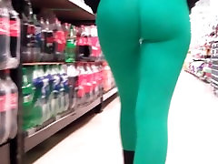 Big Round Latin Ass and Deep pussy til orgasm in Ultra Tight Greens