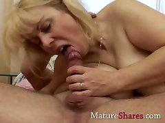 Tight mature pussy gets a drill from behind