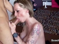 German Mom fucks young boy from neighbourhood