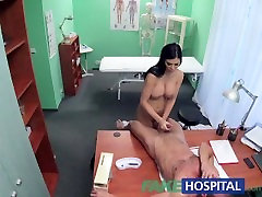 FakeHospital whooty strip bbw fucks Porn actress over desk in private clinic