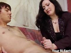 Asian pervert gets a hot cuman on food massage