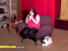 dana dearmond xandrf corvus fatty shows her chubby body at the CASTING