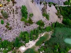 Nude motion ocean sex, voyeurs video taken by a drone