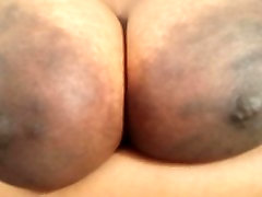 BIG shower porno areolas