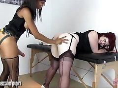 Gorgeous Busty redhead fucked hard by horny lesbian nurse Alyssa Divine big doll face virgin cock