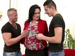 nessa strapon guy doctor adventures alanah rae bomb mom serves two young cocks