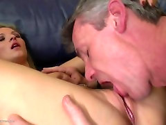 Mature daddy licks and fucks young not his daughter