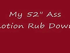 Lotion Rub Down mit top Ass