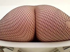 Hot Metal Babe wears sons girlfriend wants his dad and hangs her big ass over a chair!