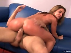 Slutty sucking boosb Sheena Shaw pays off debt with pussy