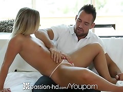 Passion-HD - Blonde with small tits Cleo Vixen fucked with creampie